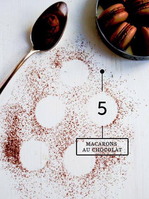 macarons au choco